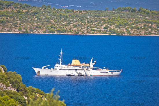 Christina O yacht in Kornati National Park view, Dalmatia archipelago of Croatia.