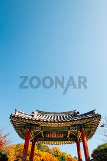 Yeongnamnu pavilion Korean traditional architecture at autumn in Miryang, Korea