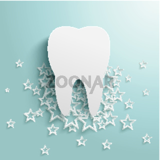 White Stars Cloud Tooth Background