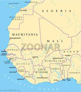 Westafrika Karte