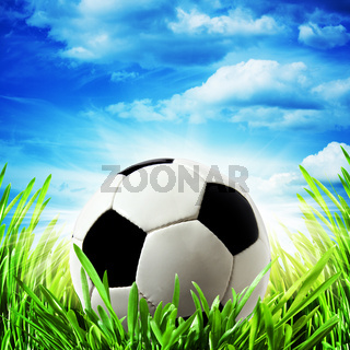 abstract football backgrounds under bright sun