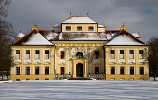 Baroque Castle Lustheim in the winter