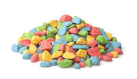 Pile of colorful decorative gravel