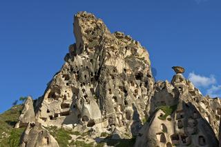 Tuffsteinfelsen mit Kavernen, Kappadokien, Türkei