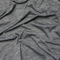 gray synthetic variegated fabric for sewing clothes, fabric wrinkled