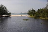 Cua Can River bei Cua Can auf Phu Quoc island, vietnam