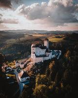 Castle Rapottenstein in Austria Aerial View