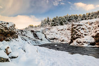 Winter in Ellidaardalur, Iceland