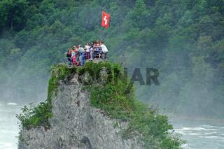 Felsen beim Rheinfall in der Schweiz