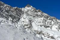 Gipfel Lenzspitze aus der Mischabelgruppe, Saas-Fee, Wallis, Schweiz