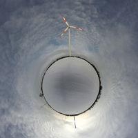 Kleiner Planet mit sauberer Energie
