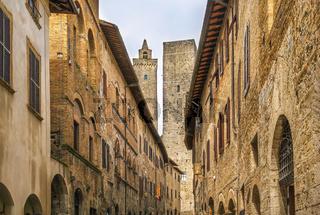 Street in San Gimignano, Italy