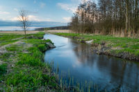 The Uherka river in Stankow in eastern Poland
