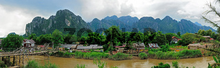 Panorama of Vang Vieng, Laos