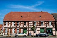 wusterhausen, deutschland - 03.06.2020 - fachwerkhaus in der altstadt