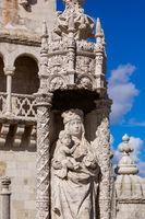 Belem Tower architecture detail - Lisbon Portugal