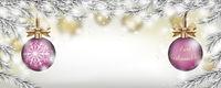 Weihnachten Frozen Twigs Snowfall 2 Pink Baubles Header