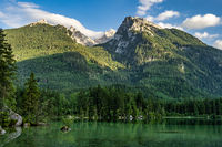 Watzmann massif at Lake Hintersee at Ramsau in Berchtesgaden, Bavaria, Germany