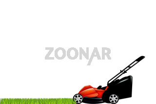 Lawnmower With Green Grass