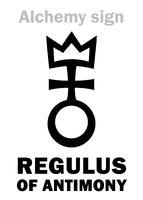 Alchemy: REGULUS of ANTIMONY (Regulus Antimonii)