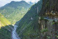 A dangerous road in Kinnaur District, Himachal Pradesh , Himachal Pradesh, India