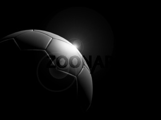 a classic black white soccer ball