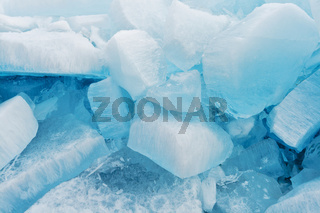 Blocks of pure ice in sunlight for background