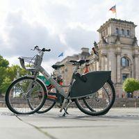 Fahrrad des öffentlichen Fahrradverleihsystems Nextbike