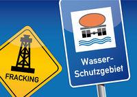 Wasserschutzgebiet, Schild, Trinkwasser, Fracking