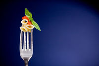 Fork with pasta and tomato sauce - Wallpaper