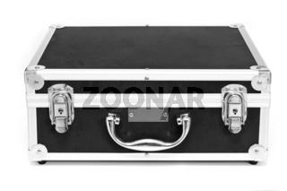 Black suitcase isolated over white