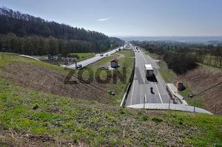 Autobahn A81 beim Schönbuchtunnel bei Herrenberg, Baden Württemberg