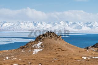 Namtso lake landscape