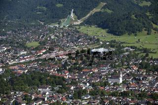 Panorama von Garmisch in Bayern