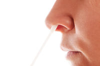 Covid 19 test. Nasal swap.