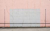Cracked Basque pelota wall