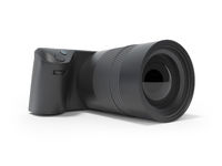 Professional camera for the family 3d rendering on white background with shadow