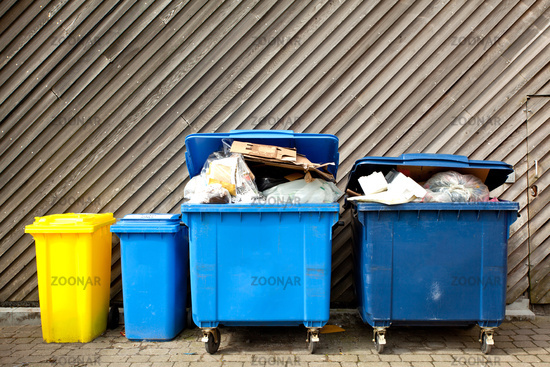Large wheelie bins