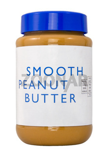 Isolated Jar Of Peanut Butter
