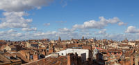 Panoramic view over the rooftops of Toulouse, France
