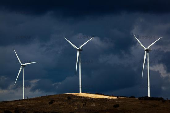 Wind generators in Burgos province