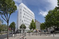 Modern architecture at Bd. de Dunkerque, Euroméditerrané district, Marseille