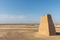 beacon tower near Dunhuang