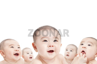 all baby are looking up