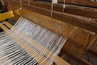 altes Handwerk - Werkzeug zur Leinenfertigung auf dem Handwerkermarkt in Kommern