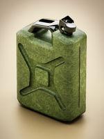 Vintage green gas canister. 3D illustration