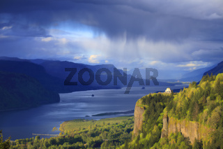 Dramatic sky on the Columbia Gorge OR.