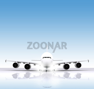 Aircraft and reflect on runway