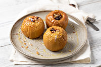 Sweet baked Apple with honey