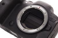 Mirrorless camera technology. Lens mount detail.